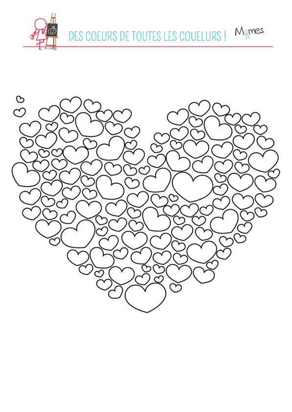 coloriages à imprimer coeur