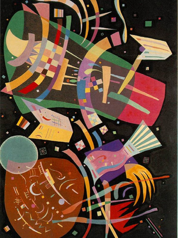 Coloriage Composition X de Kandinsky
