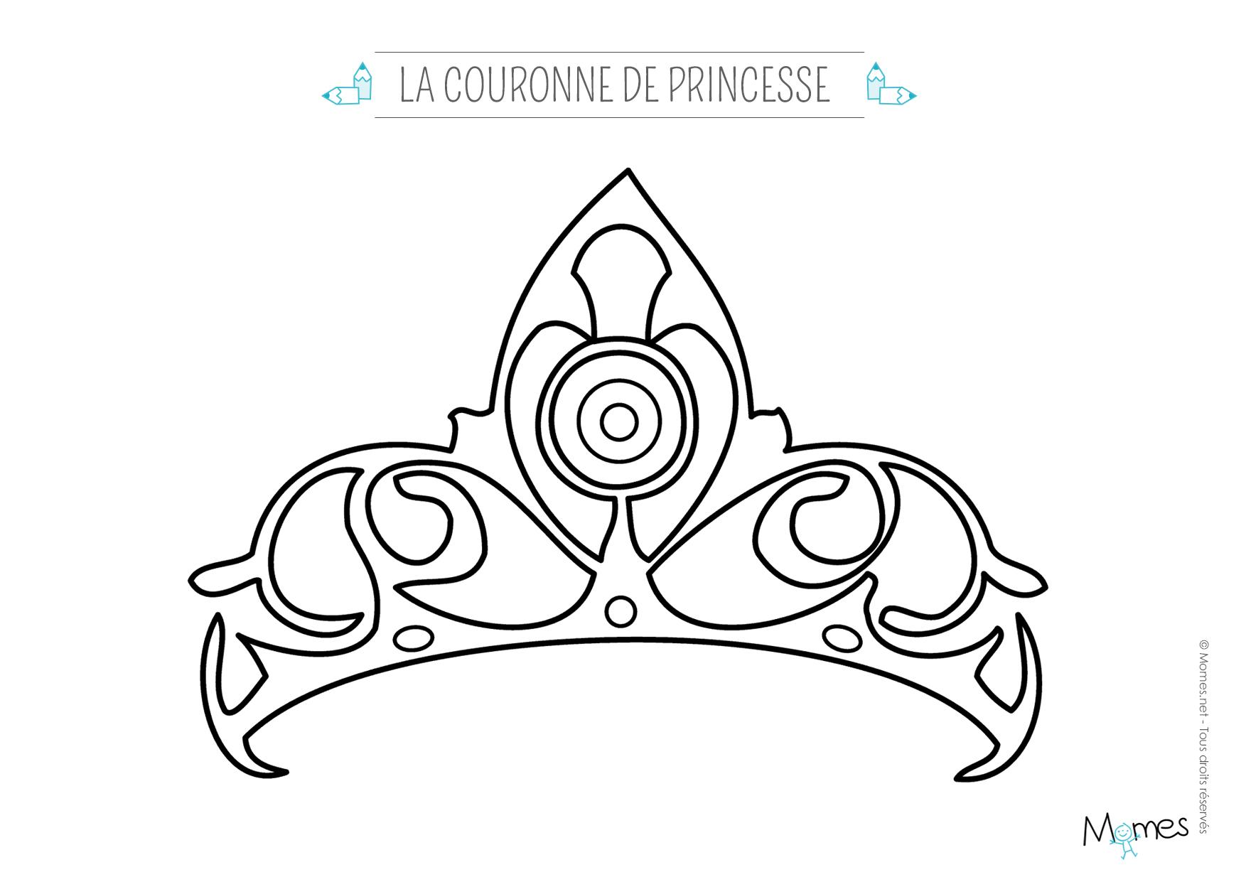 Exceptionnel Coloriage couronne de Princesse - Momes.net XR15