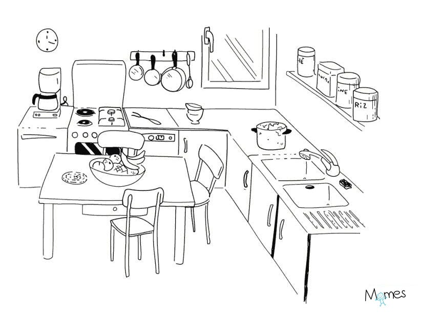 Coloriage cuisine de ma mamie - Jeux et coloriage ...