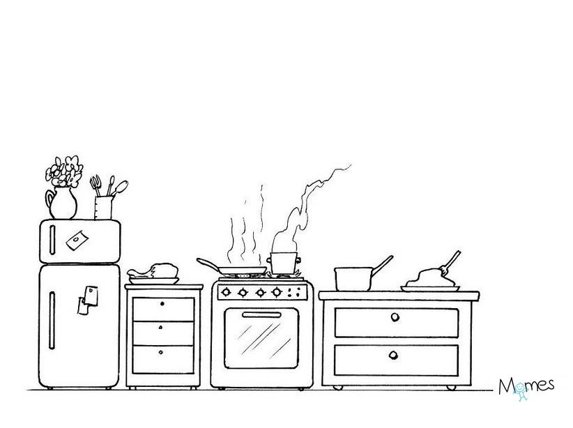 Coloriage cuisine à imprimer
