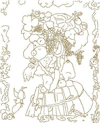 Coloriage d 39 apr s arcimboldo l 39 automne - Immagini da colorare durante l estate ...