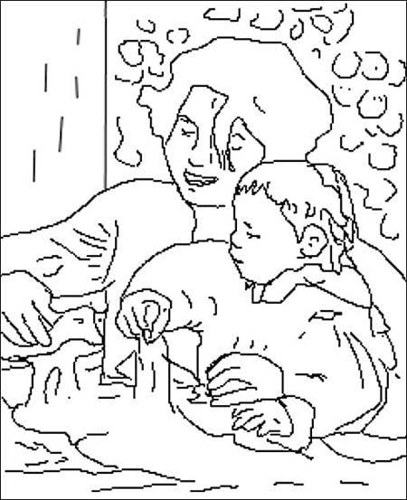 Coloriage d 39 apr s renoir - Coloriage peintre ...