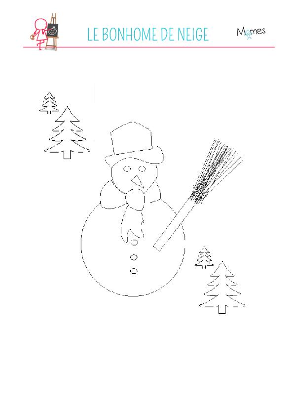 Coloriage de bonhomme de neige - Bonhomme de neige coloriage a imprimer ...