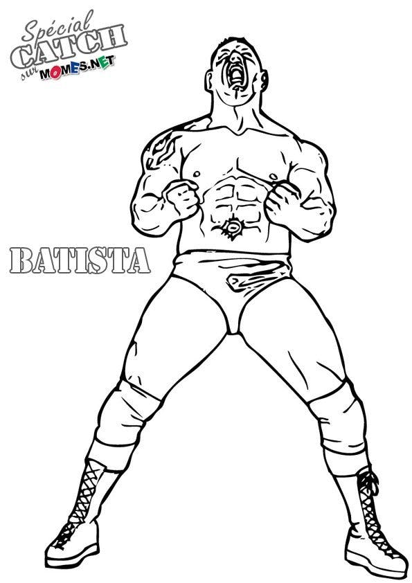 Coloriage de Catch - Batista