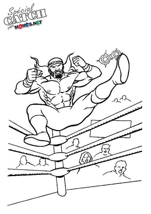 Coloriage de Catch - Hulk Hogan - Momes.net