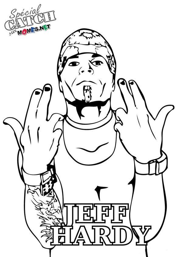 Coloriage De Catch Jeff Hardy Momes Net