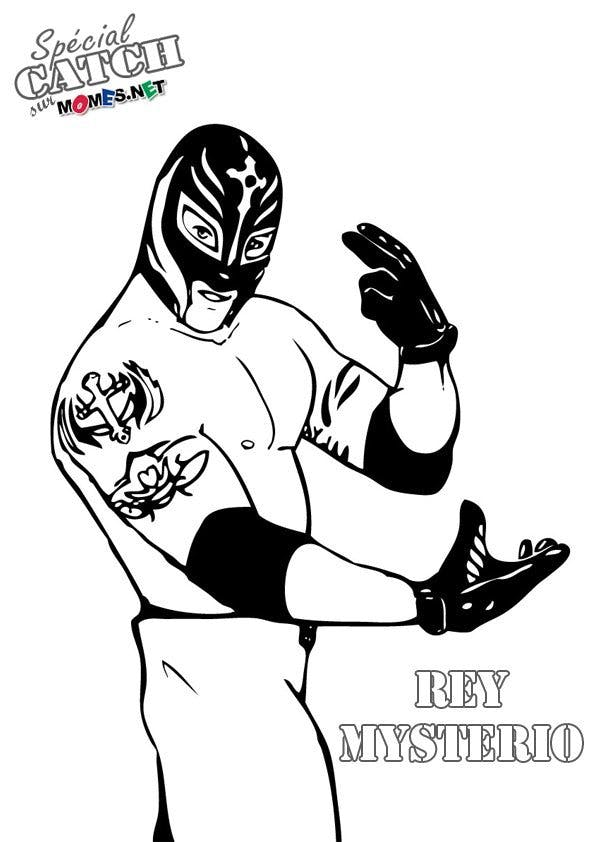 Coloriage de Catch - Rey Mysterio