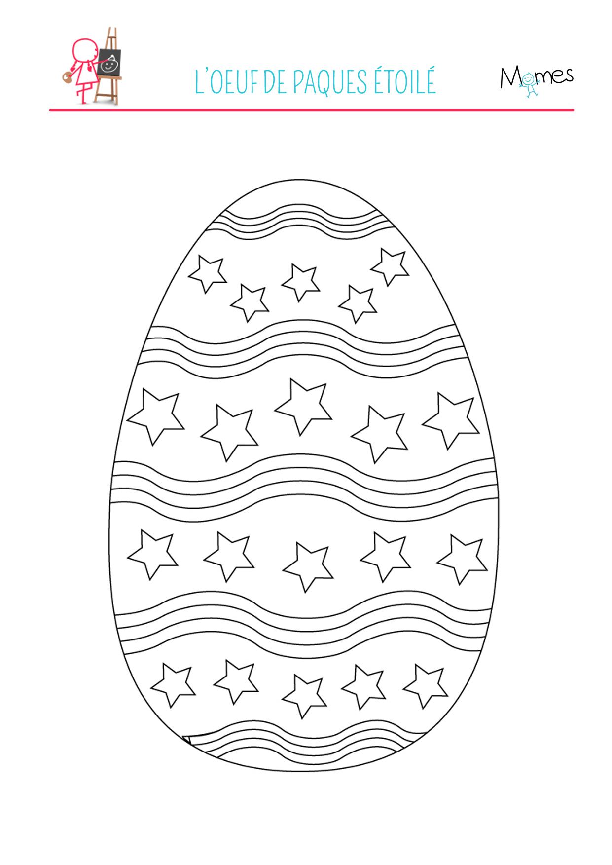 Coloriage de l'œuf de Pâques décoré
