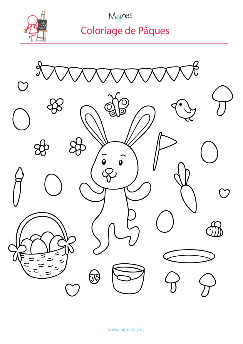 Coloriage de la fête de Pâques