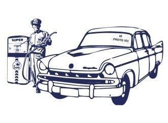 Coloriage de la voiture de papa