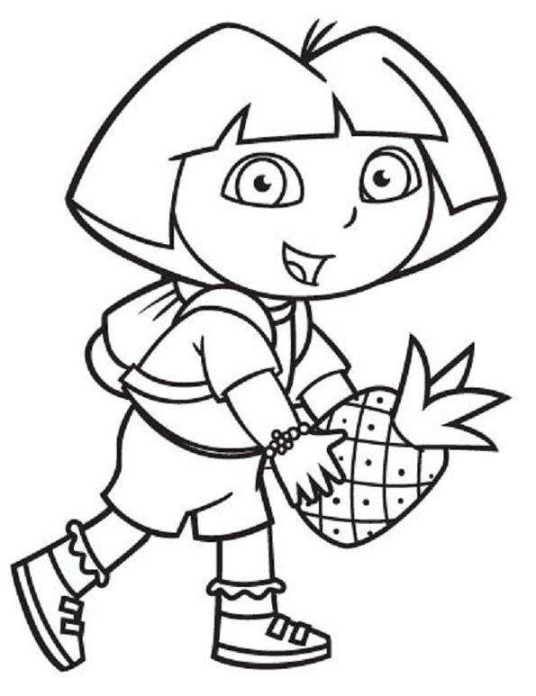 Coloriage dora 10 - Dessin anime dora exploratrice gratuit ...