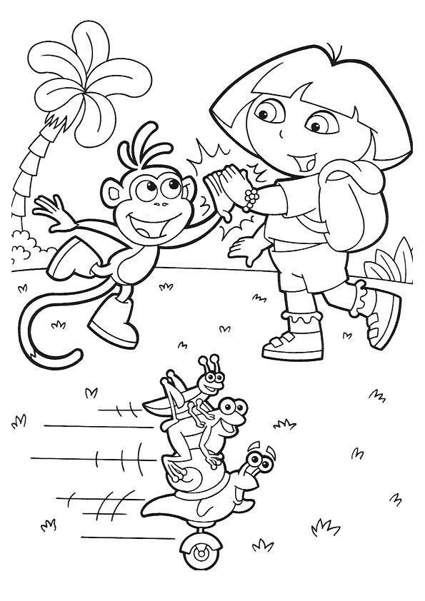 Coloriage Dora 12