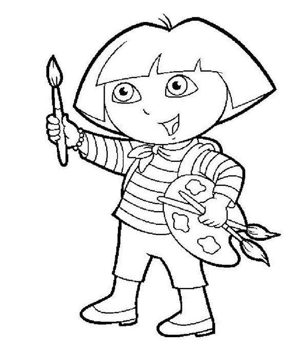 Coloriage Dora 2