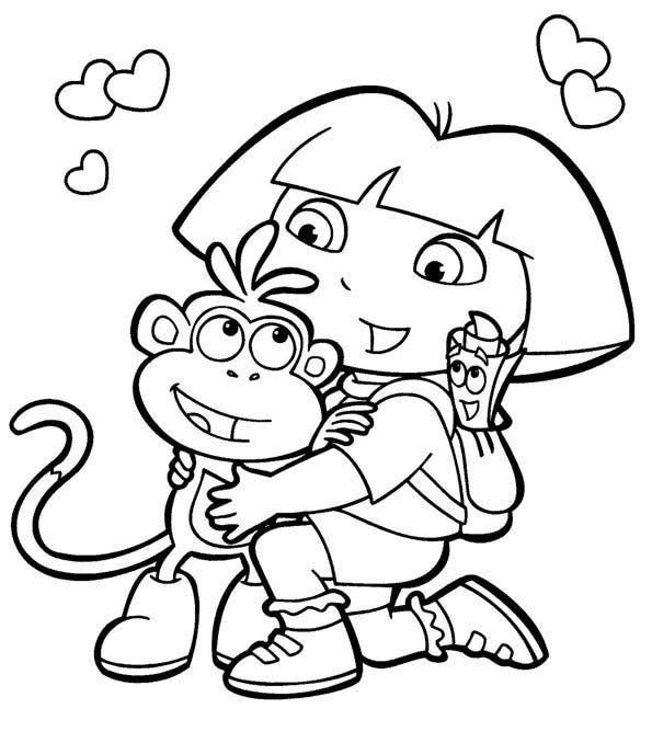 Coloriage Dora 3
