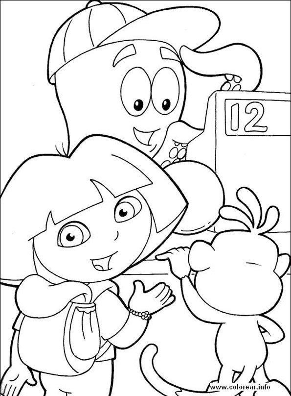 Coloriage Dora 5