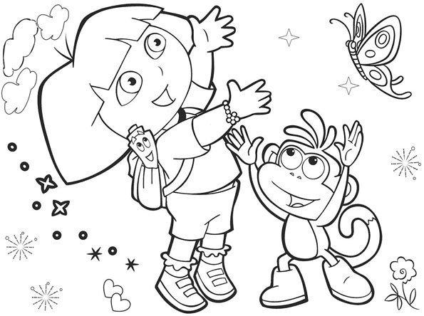 Coloriage dora 6 - Dessin anime dora exploratrice gratuit ...