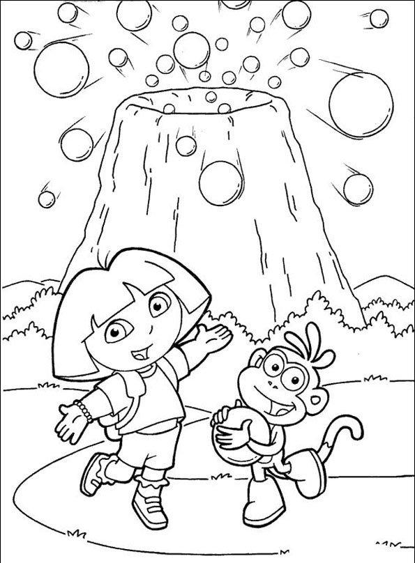 Coloriage Dora 7