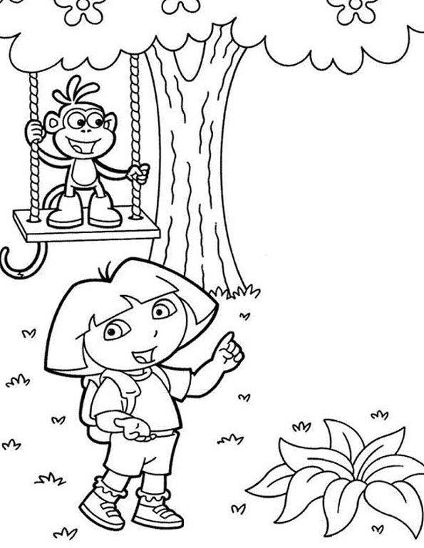 Coloriage Dora 8