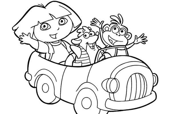 Coloriage Dora 9 - Momes.net