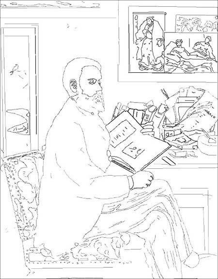 Coloriage Edouard Manet [1832 - 1883] (2)