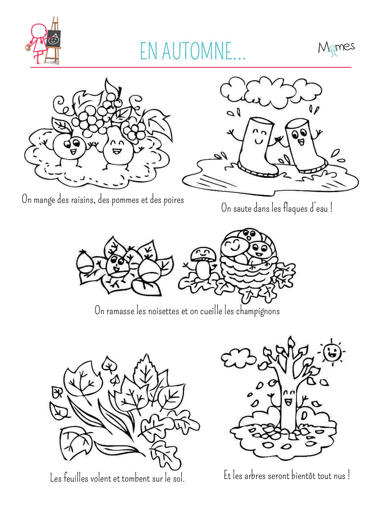 coloriage automne à imprimer