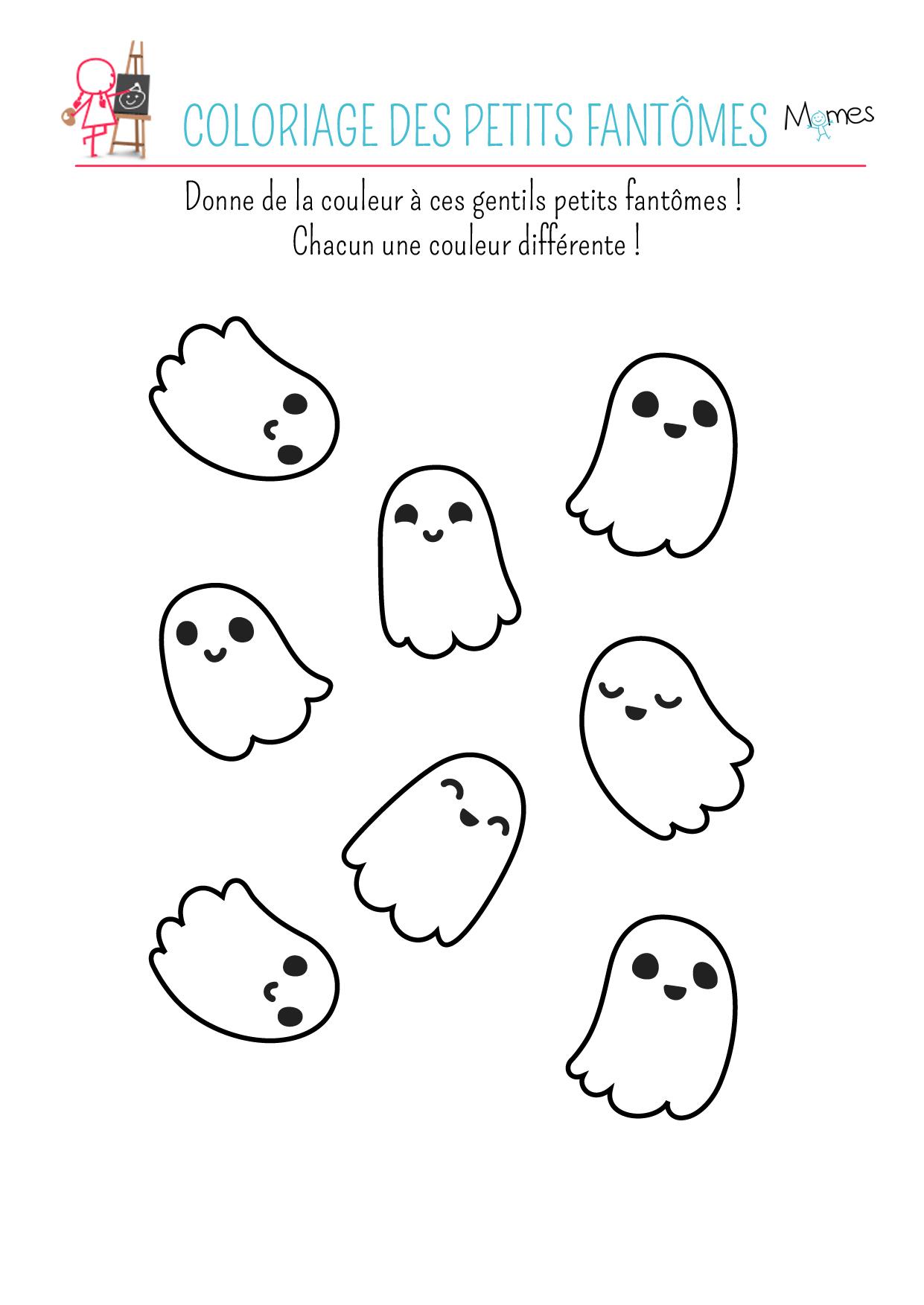 coloriages fantome à imprimer