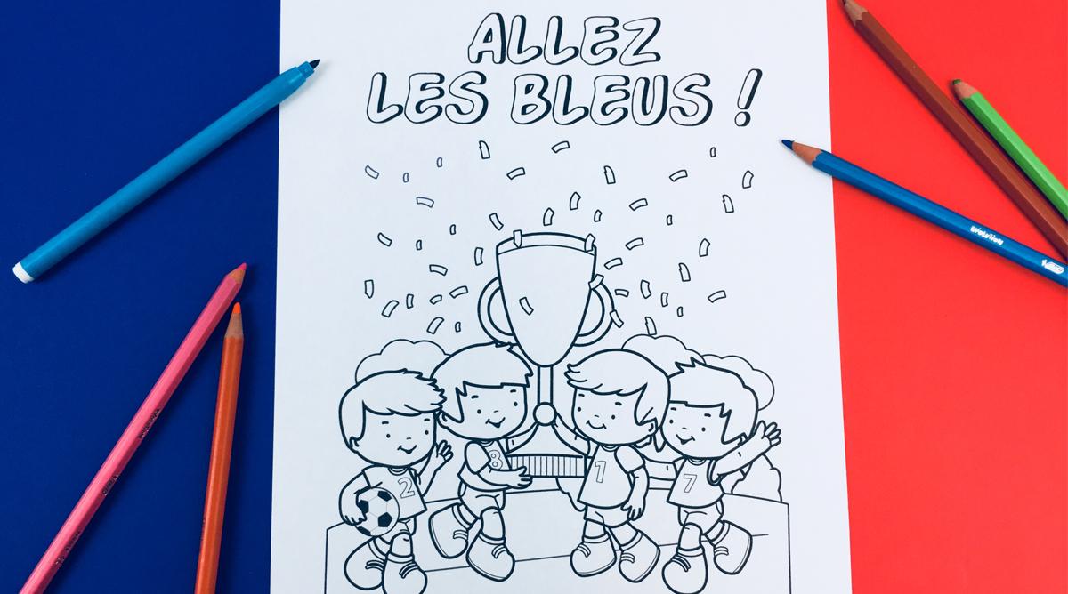 Coloriage Football Allez Les Bleus Momes Net