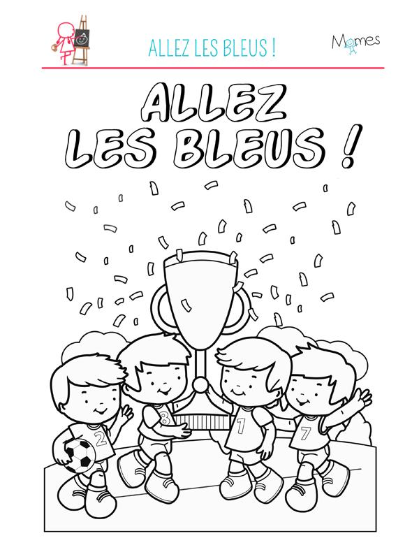 Coloriage De Football.Coloriage Football Allez Les Bleus Momes Net