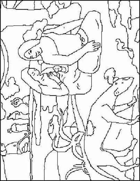 Coloriage Gauguin