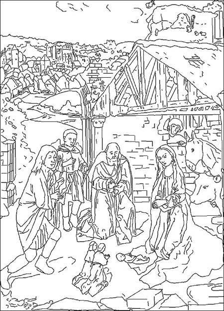 Coloriage g rard david peintre flamand 1460 1523 - Coloriage peintre ...