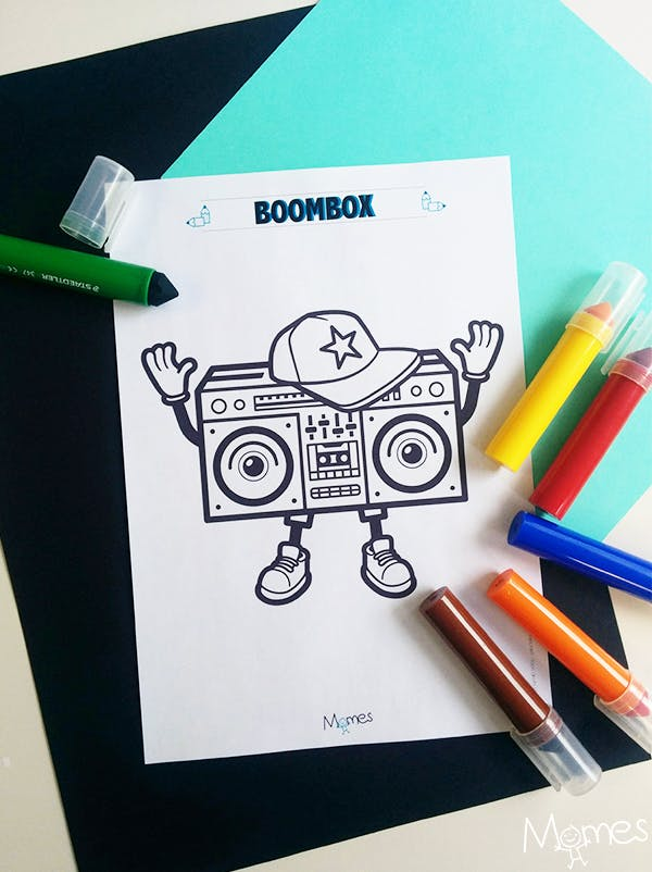 Coloriage Ghetto Blaster !