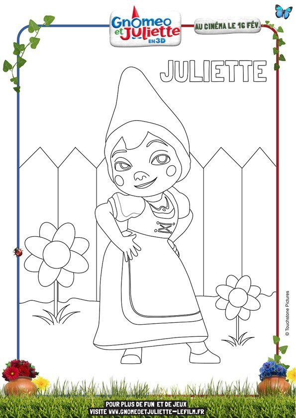 Coloriage Gnomeo et Juliette 2