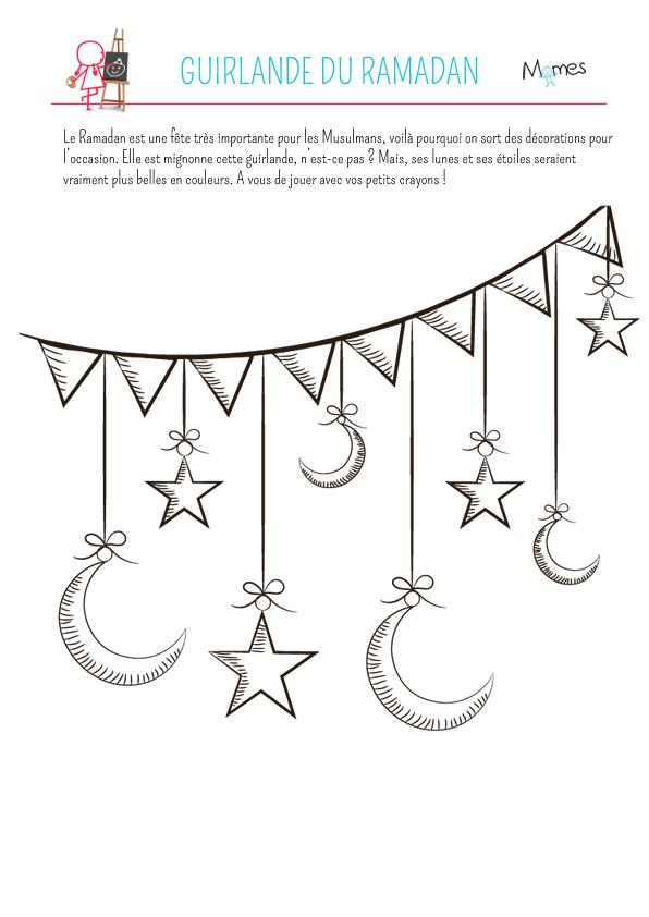 Coloriage guirlande du ramadan - Dessin guirlande de noel ...