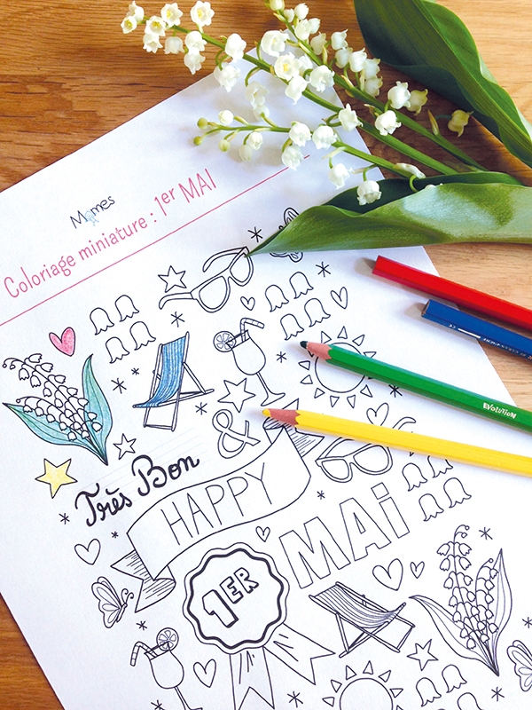 Coloriage Happy 1er Mai