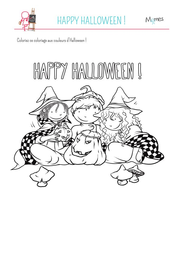 Coloriage happy halloween - Coloriage cars halloween ...