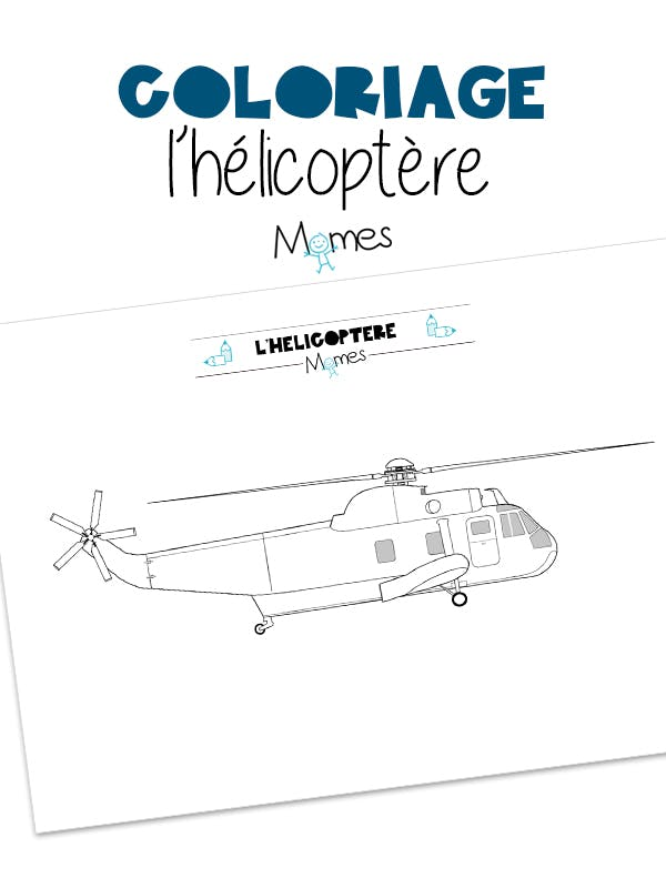 Coloriage Helicoptere Momes Net
