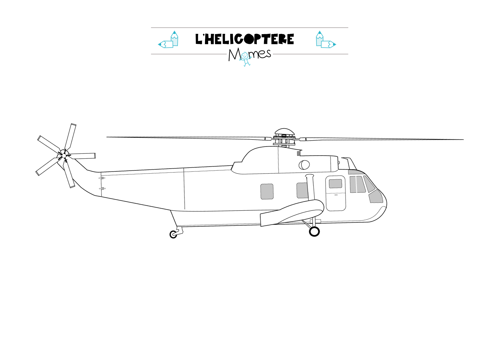 Coloriage Hélicoptère Momes Net