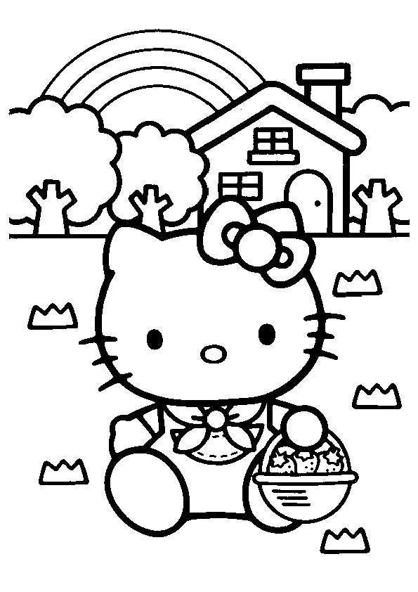 Coloriage hello kitty 2 - Hello kitty jeux coloriage ...