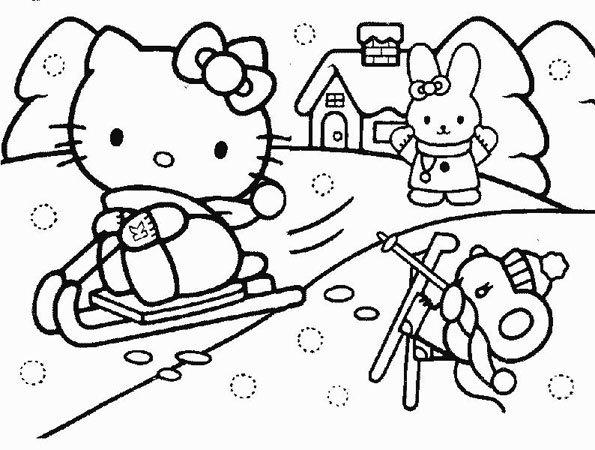Coloriage Hello Kitty 3 Momes Net