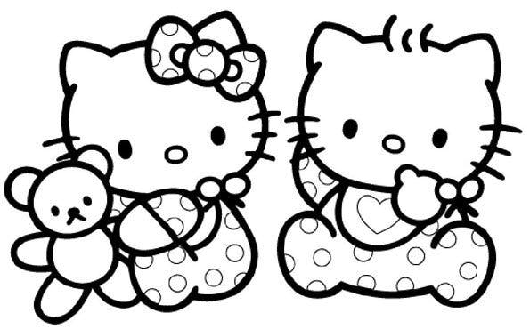 Coloriage hello kitty 4 - Coloriage prin ...