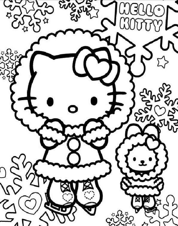 Coloriage hello kitty 5 - Hello kitty jeux coloriage ...