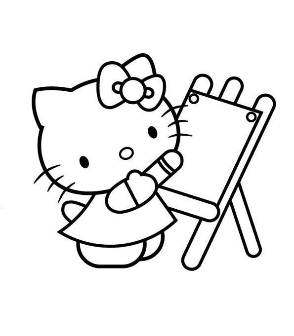 Coloriage Hello Kitty Cheval.Coloriage Hello Kitty 7 Momes Net