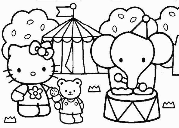 Coloriage Hello Kitty - 8