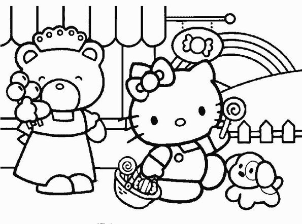 Coloriage hello kitty 9 - Hello kitty jeux coloriage ...