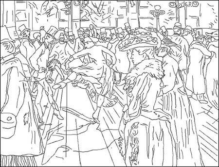 Coloriage Henri de Toulouse Lautrec (1864-1901)