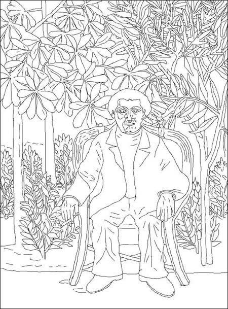 Coloriage Henri Rousseau, dit le Douanier Rousseau [1844-1910]