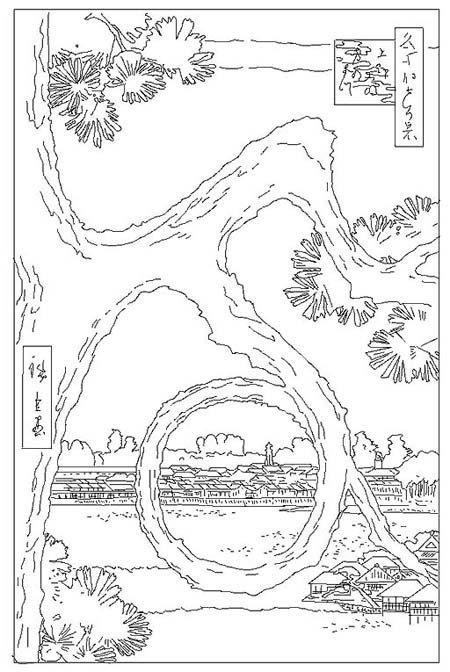 Coloriage Hiroshige