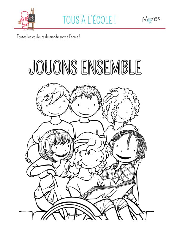 Coloriage Jouons ensemble
