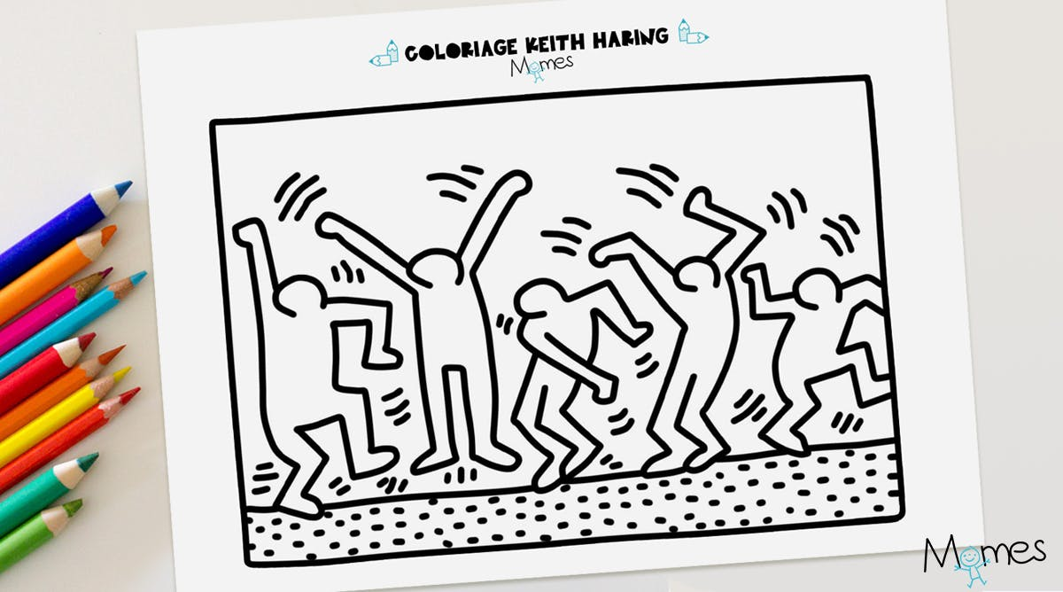 Keith Haring Maternelle Coloriage La Statue De La